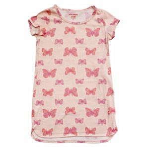 Pink Butterfly Print Sleep Gown